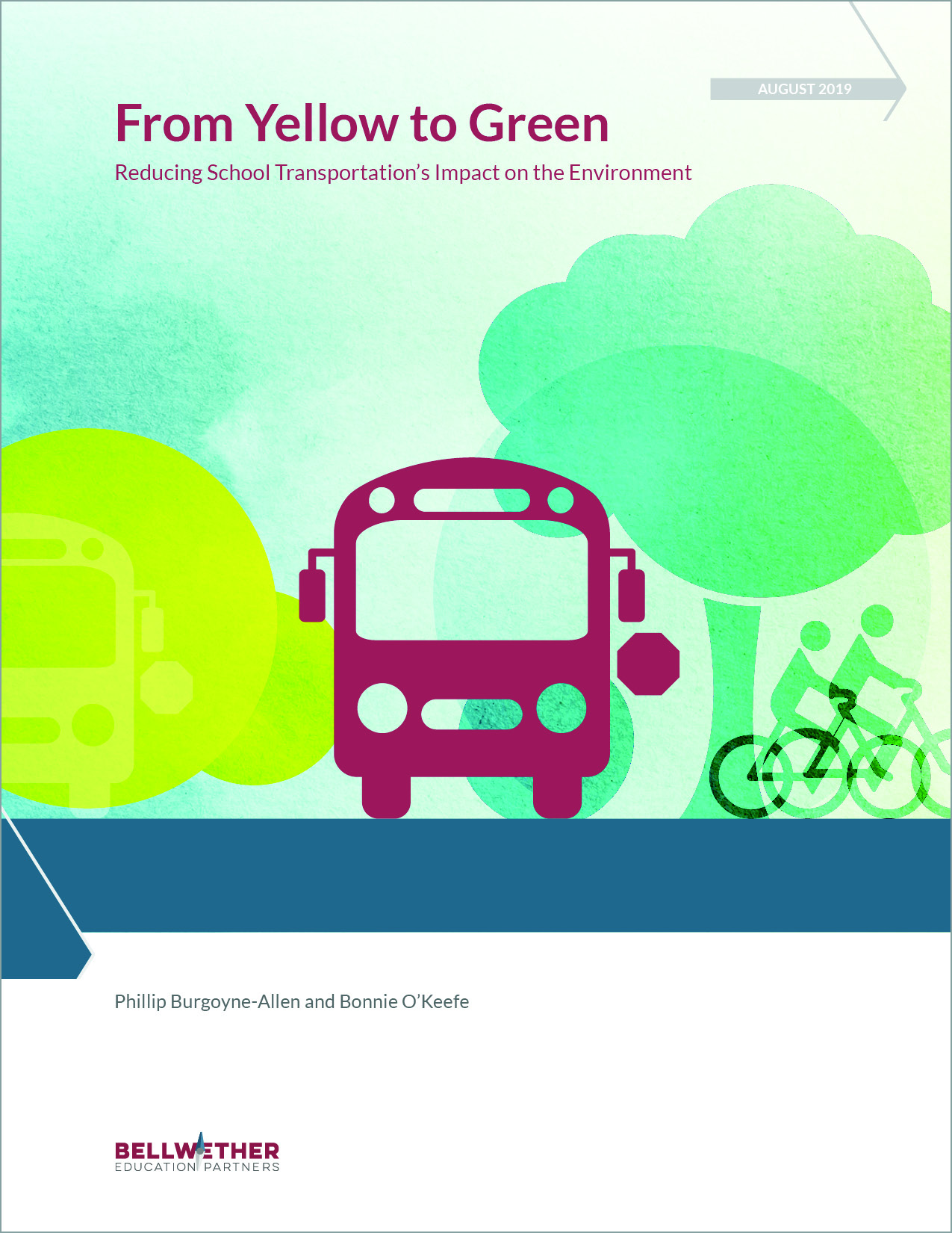 "Cover of ""From Yellow to Green: Reducing School Transportation's Impact on the Environment"""