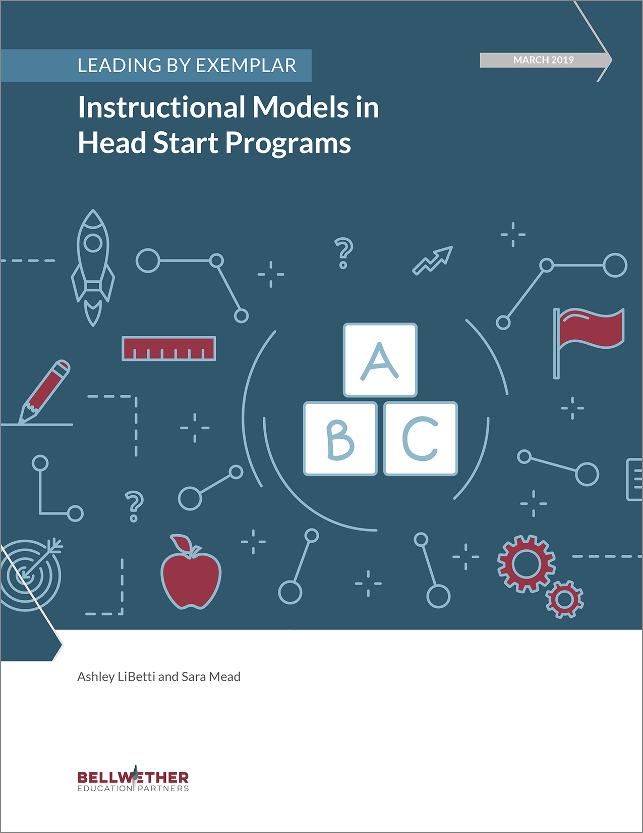 "Title image for Bellwether publication ""Leading by Exemplar Instructional Models in Head Start Programs,"" March 2019"