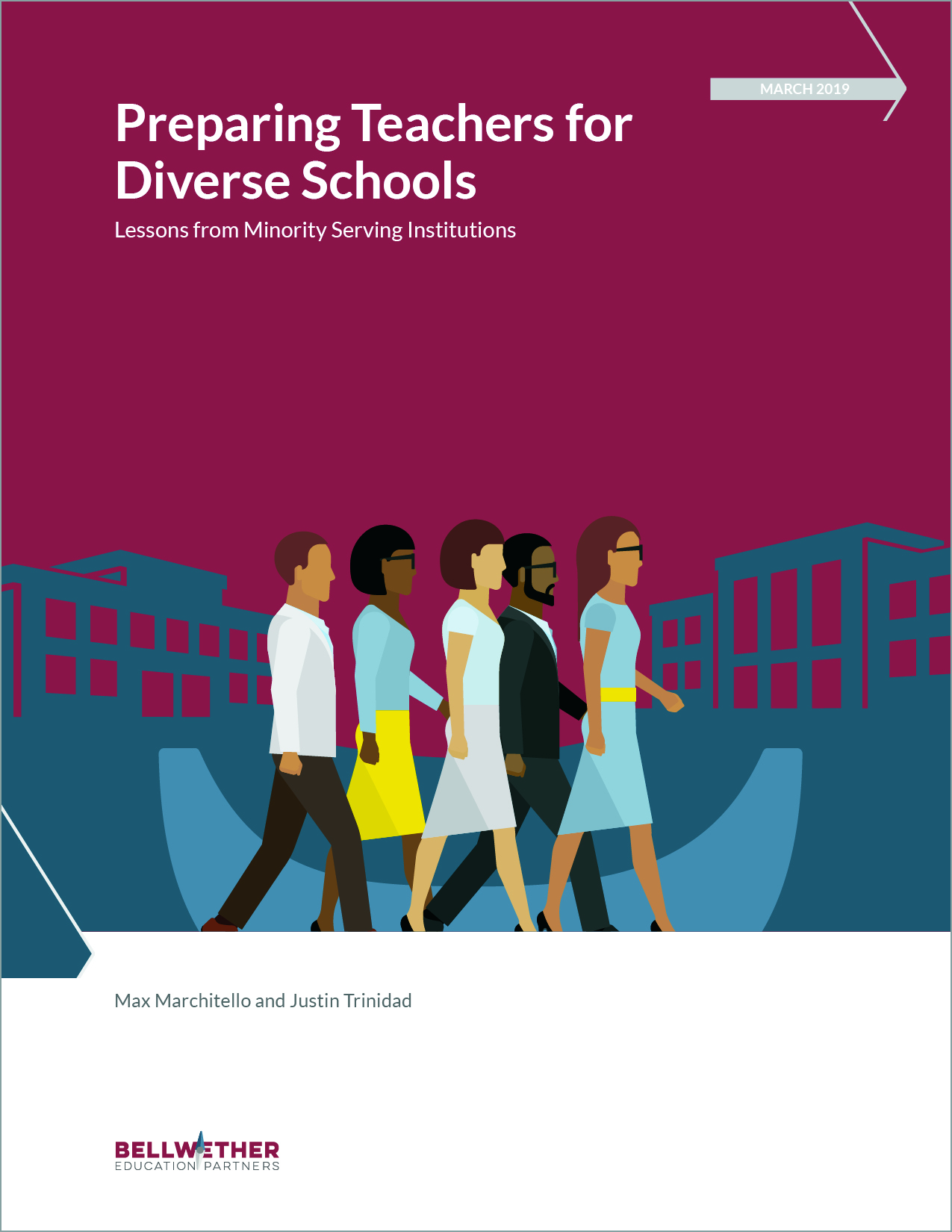 Title image for Bellwether publication Preparing Teachers for Diverse Schools, March 2019